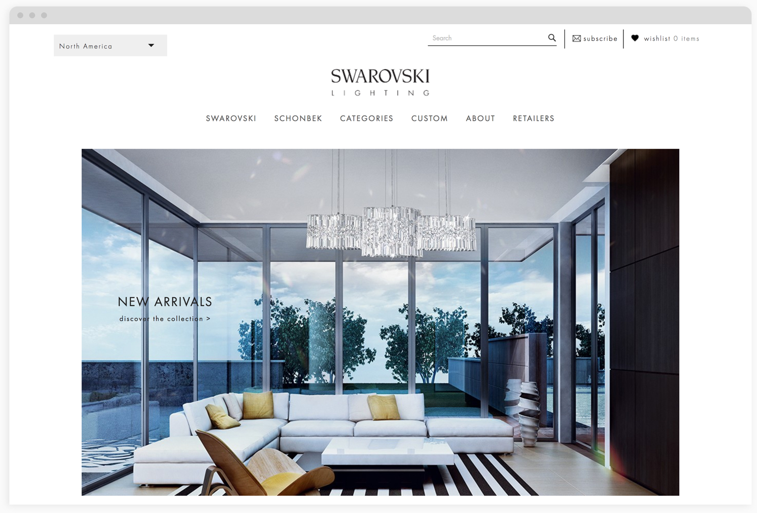 Swarovski Lighting Gauge Ecommerce Design Development