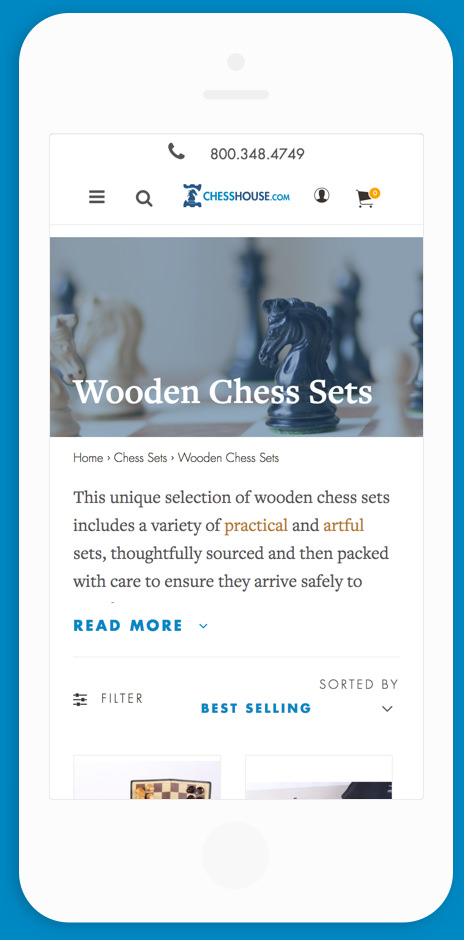 Chess House Mobile Category Mock Up