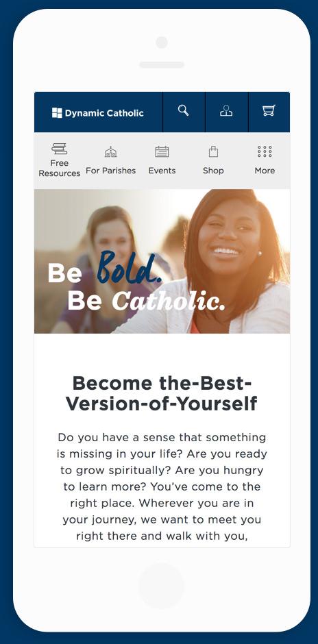 Dynamic Catholic Mobile Homepage