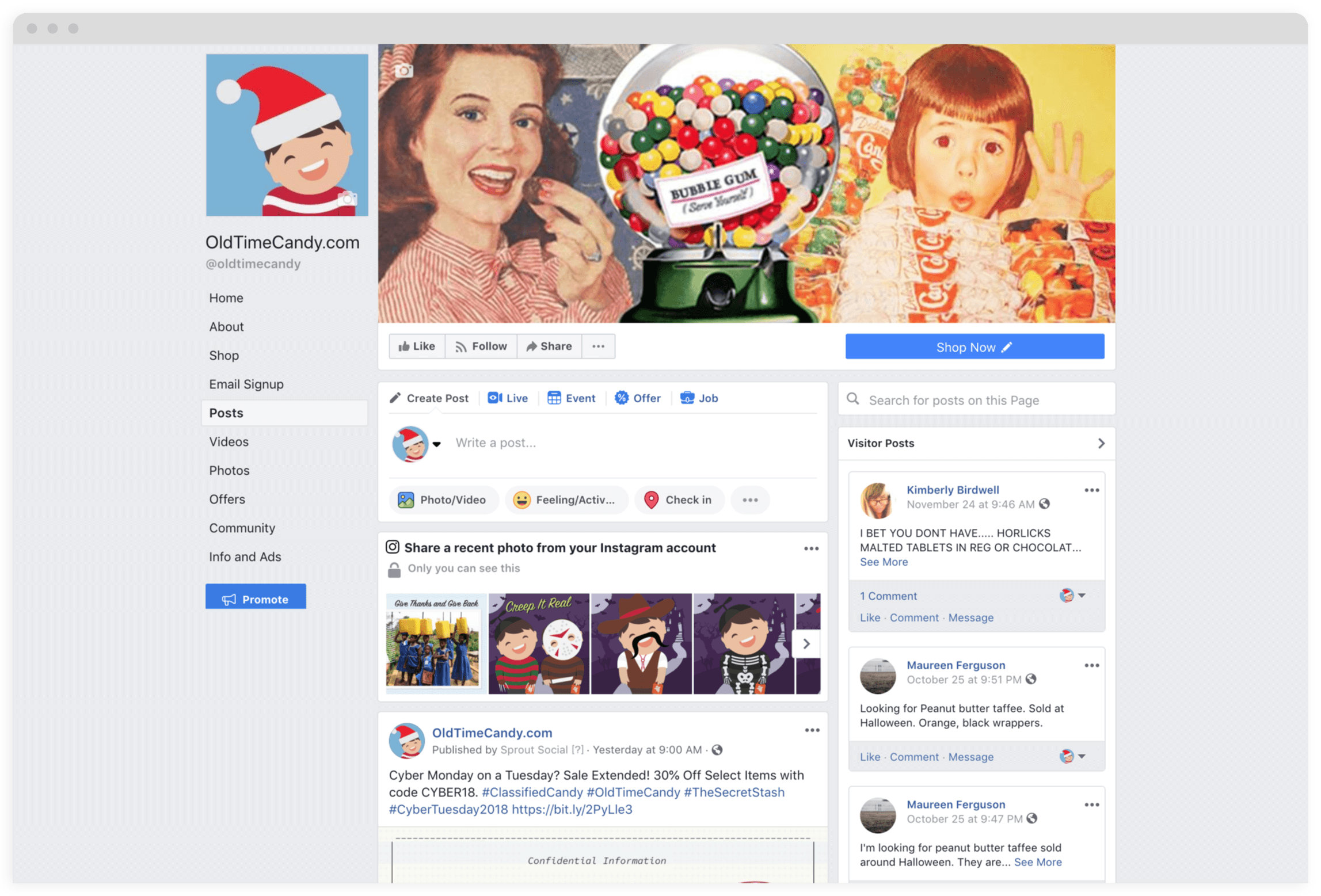 Old Time Candy Desktop Facebook