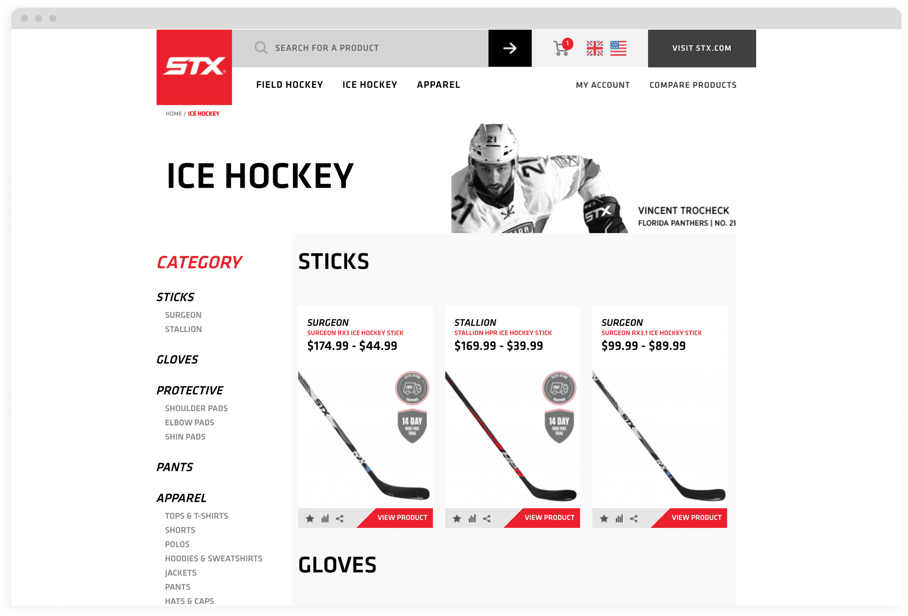 STX Desktop Category Page Mock Up