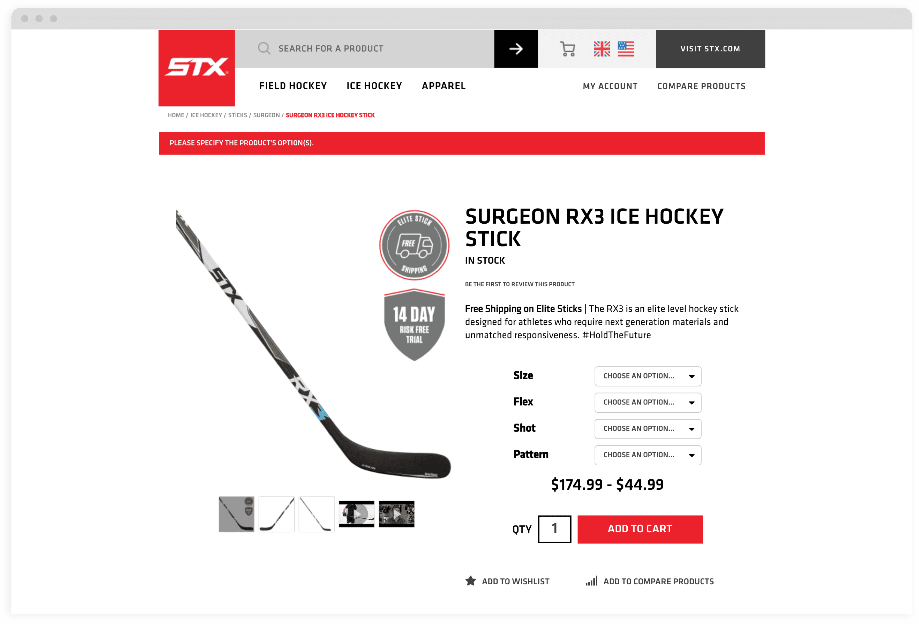 STX Desktop PDP Mock Up