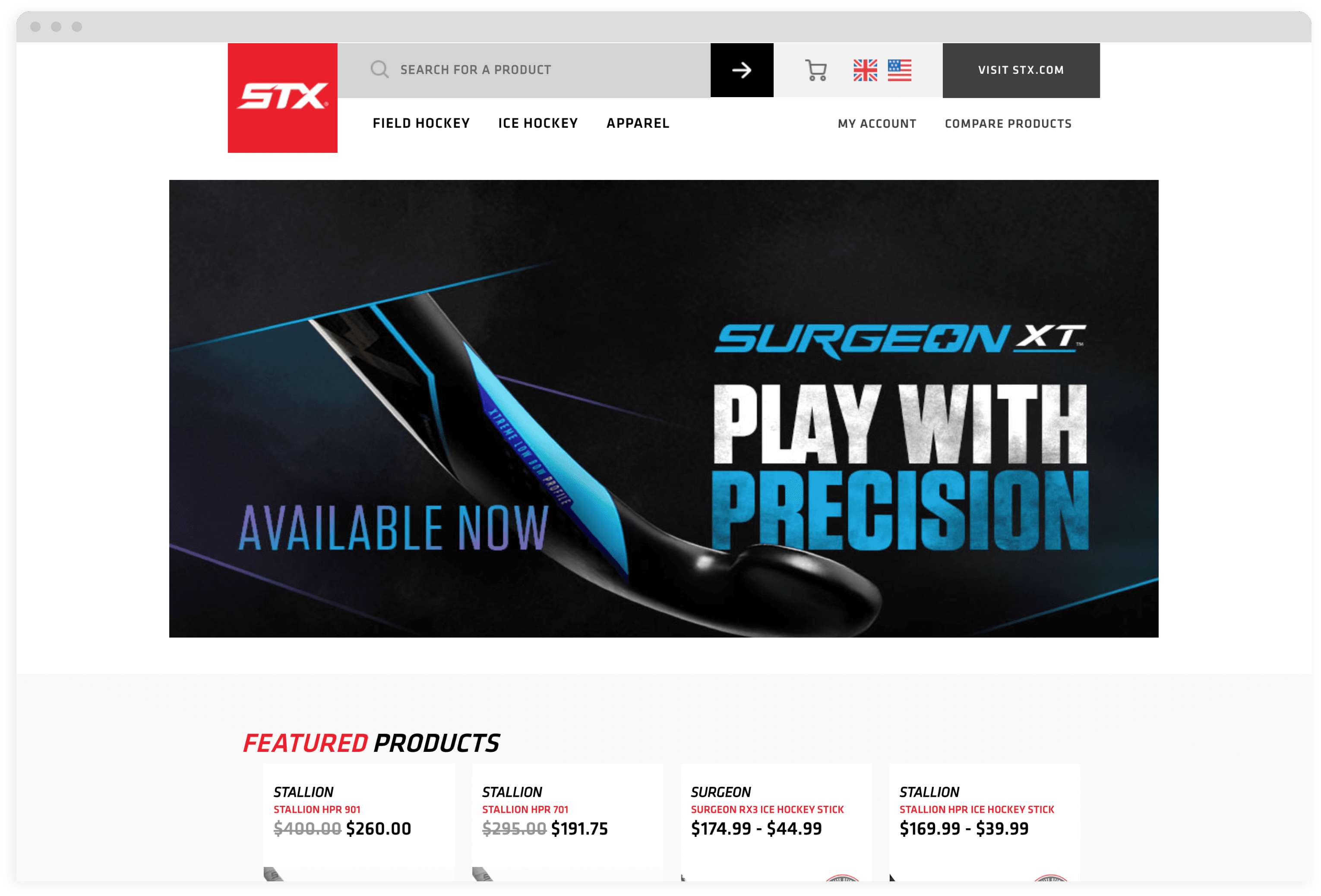 STX Homepage Browser Mock up